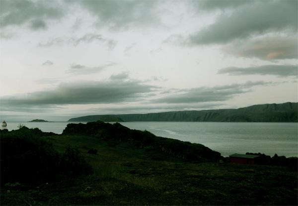 Kongsfjorden i Finnmark, juli 2009.