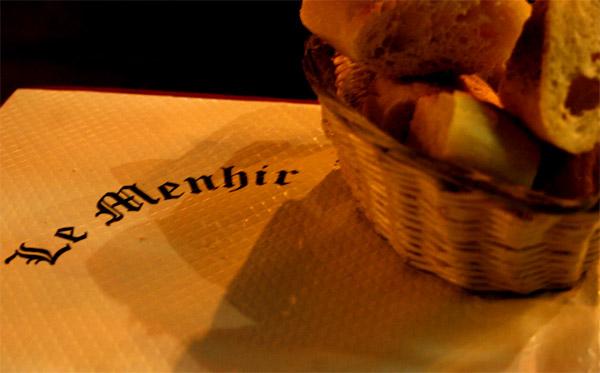 Restaurant Le Menir, ved Boulevard St Michel. Sterkt å anbefale.